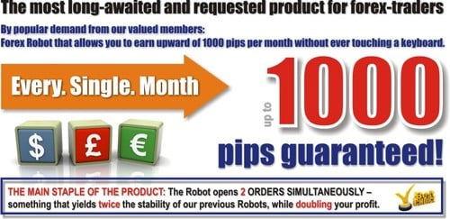 Product picture Forex 1000 Pips ROBOT Guarantee